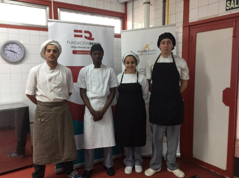Alumnos del taller de Cocina, voluntarios en curso Nefrodiet de Fundación Renal