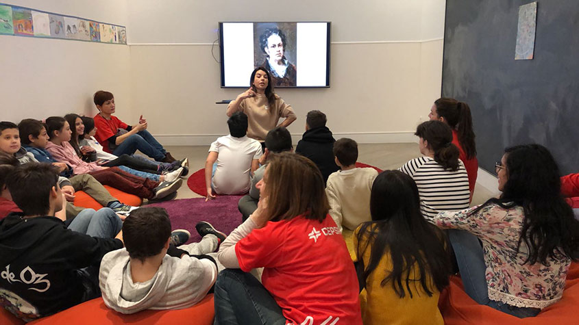 Los menores del Programa I+I visitan el Museo del Prado con voluntarios de Fundación Cepsa