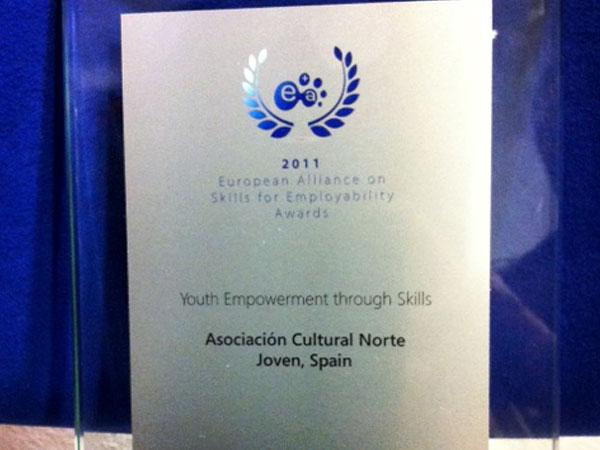 Premio 2011 European Alliance on Skill for Employability