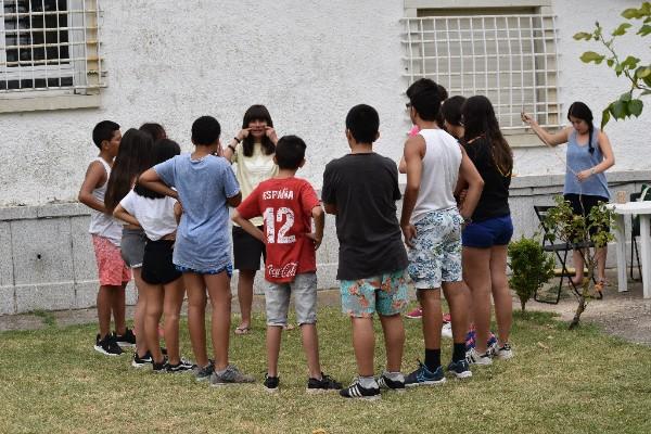 De campamento con los menores del Programa I+I