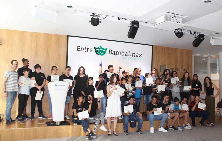 """Finaliza la primera edición de """"Entre Bambalinas"""", programa social de teatro de BNP Paribas"""