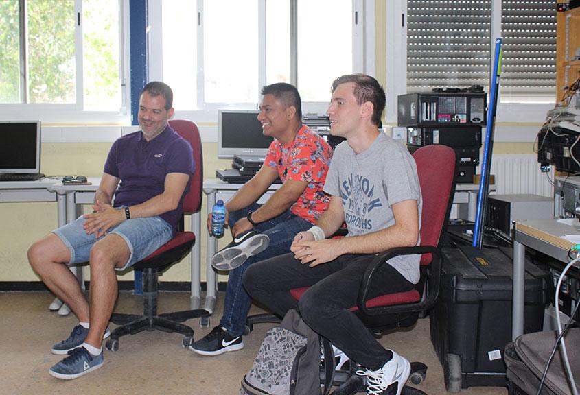 Tres antiguos alumnos de informática, una inspiración y motivación para otros jóvenes
