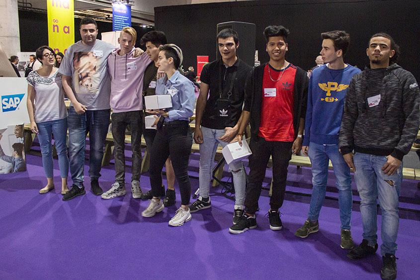 Los jóvenes de Cocina y Electricidad ganadores del Premio al Segundo Mejor Proyecto en CTM
