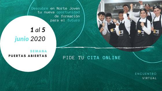 """Semana virtual """"Puertas Abiertas"""" Centros Norte Joven"""