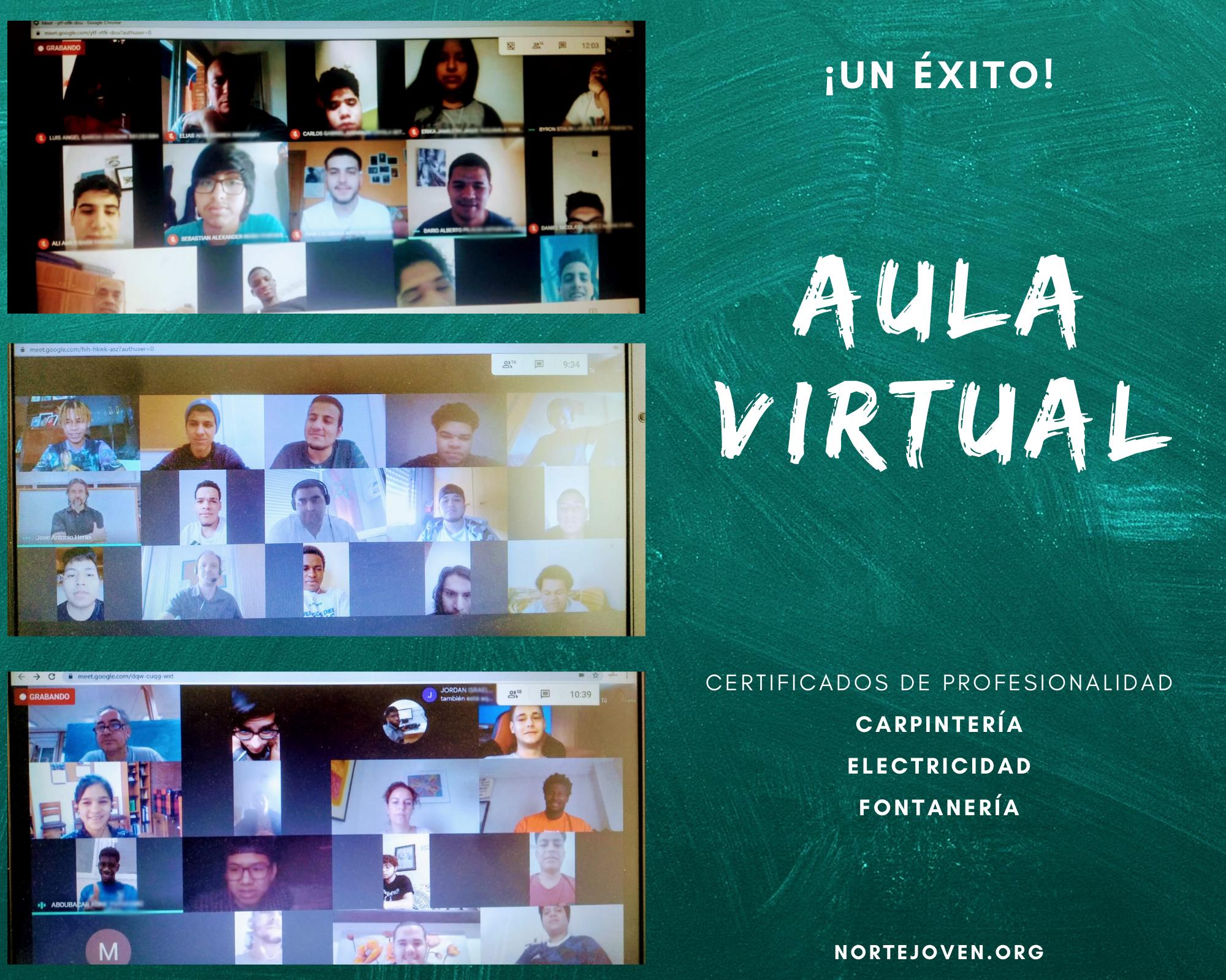 """El """"aula virtual"""" de Norte Joven todo un éxito"""