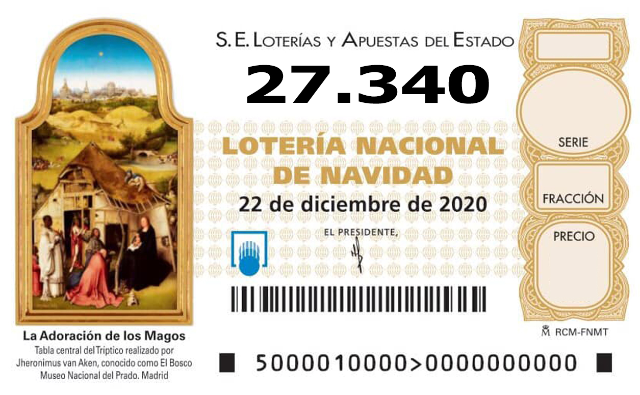 participación lotería de Navidad de Norte Joven